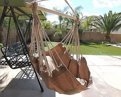 chair hanging rope hammock swing porch outdoor patio seat tree cotton yard new