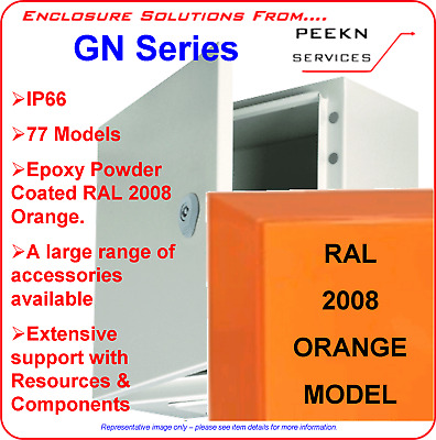 400W x 400H x 200D Electrical Enclosure, Switchboard, Box, Orange ELCE404020A