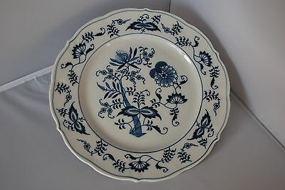 "Blue Danube Dinner China Plate 10 1/4"" - Rectangle label"
