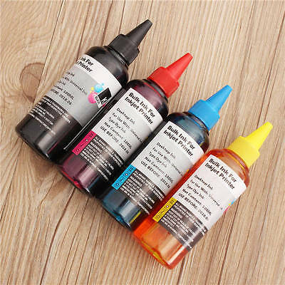 4 Colors 400ml Universal Refill Ink C M Y K for Epsn Canon HP Brother Printers