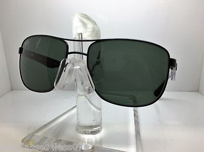 43f9afaa0c RAY-BAN POLARIZED SUNGLASSES Rb3533 002 9A Black Frame green Classic ...
