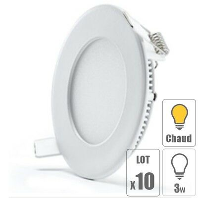 lot x10 spot led downlight plafonnier 3w extra plat blanc froid 6500 k 180 eur 41 99. Black Bedroom Furniture Sets. Home Design Ideas