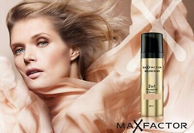Max Factor Ageless Elixir 2-in-1 Foundation + Serum SPF15~~Choose Your Shade