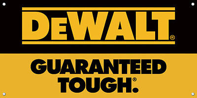 DeWalt Guaranteed Tough Black And Yellow Logo Vinyl Banner Sign Full Color 51
