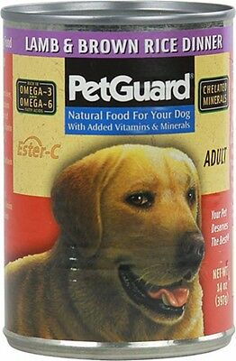 PetGuard Canned Adult Dog Food Lamb and Brown Rice - 14 oz