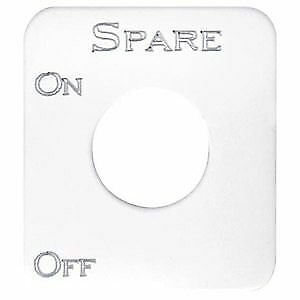 Kenworth Spare Switch Plate, Stainless Steel
