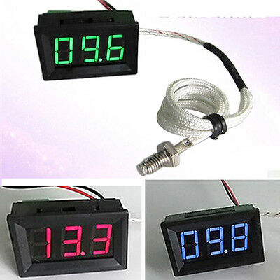 0℃+999℃ Thermometer digital LED Temperatur Anzeige Temperaturanzeige 12V 24V CAR