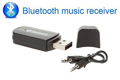 Wireless USB Car Bluetooth Stereo Music Adapter Receiver Audio 3.5mm Dongle AUX