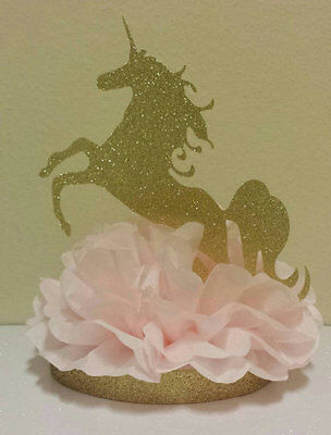 Princess Unicorn Pink Gold Centerpiece Birthday Party Baby Shower