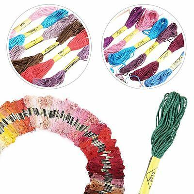 100 X Mix Colors Cross Stitch Cotton Sewing Embroidery Thread Floss Kit
