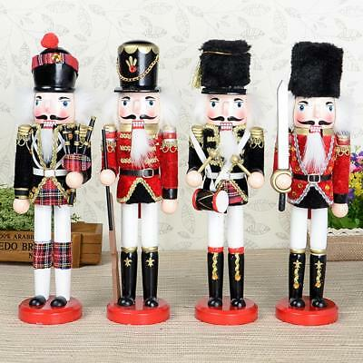 Large 30cm Vintage Soldier Figure Wooden Traditional Nutcracker Collectable Gift