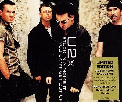 U2 Stuck In A Moment You Can't Get Out Of CD Single Beautiful Day All Behind 18