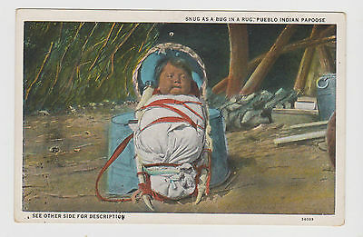Peublo Native American X 1 Only Vintage Postcard ..papoose