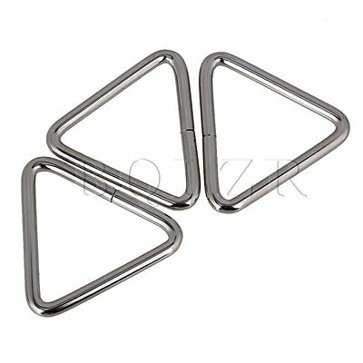 20pcs 5cm Silver Color Metal Iron Wire Triangle Ring and Triangle Loop Buckle