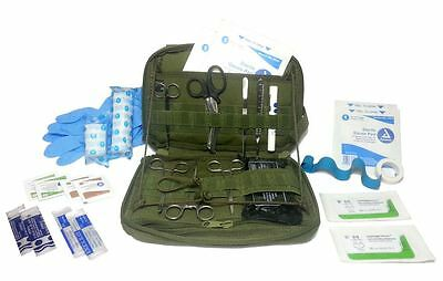 Military Elite Surgical Kit - Army Medic tools first aid etc -OD Green #FA18