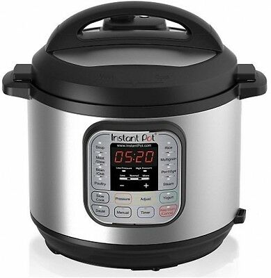 Instant Pot IP-DUO60 7-in-1 Programmable Stainless Steel Pressure Cooker, 6Qt