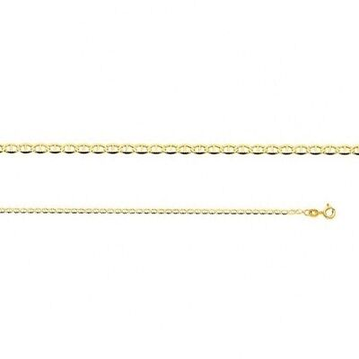 "14k Yellow Gold Mariner Link Necklace Italy Solid 2 mm Chain 16"" 18"" 20"" 22"" 24"""