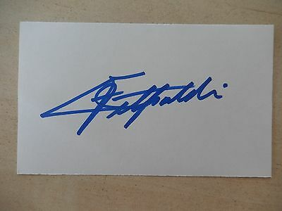 "Emerson Fittipaldi Autographed 3"" X 5"" Index Card"