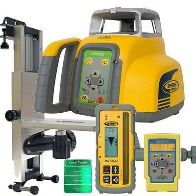 Spectra Laser HV302G-1 Green Beam Interior Laser Level w/HL760U Receiver