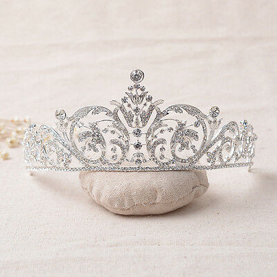 Wed Bridal Bridemaid Prom Party Crystal Rhinestone Crystal Tiara Crown Headpiece