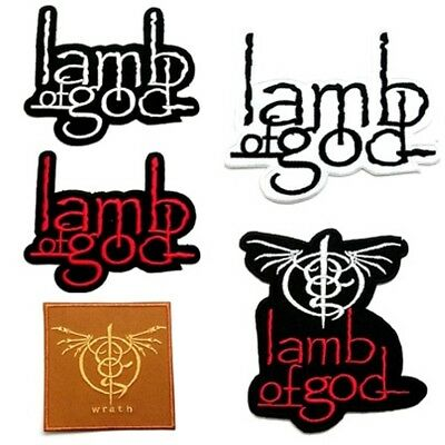 Lamb Of God Patch Sew Iron On Embroidered Heavy Metal Rock Band Music Appliques