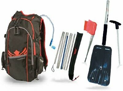 Back country avalanche gear kit back pack shovel probe backpack hydration system