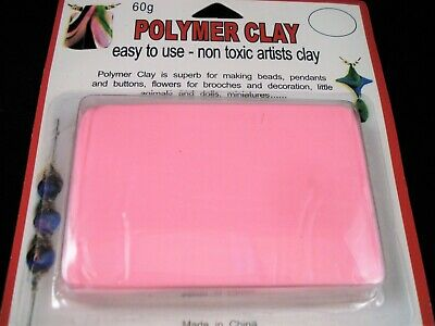 Modelling Polymer Clay Art/Craft Oven Bake 60g Pink Baking Sculpt FREE POSTAGE