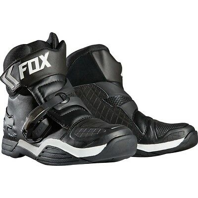 Fox Racing NEW Bomber CE Ankle Road Racing Short Low Cut Black Motorcycle Boots