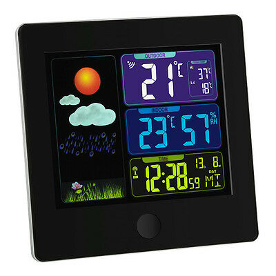 Wireless Weather Station Sun Tfa 35.1133 Colour Display Indoor Climate Control