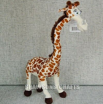 "Madagascar Plush Stuffed Toys Giraffe 14"" Melman Soft Doll Figure"