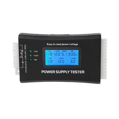 LCD COMPUTER PC Power Supply Tester 20/24 4/6/8 Pin For Sata