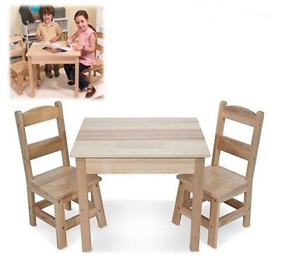 kids table and chairs set wooden play room toddler child game toys dining indoor - Childrens Table And Chair Set