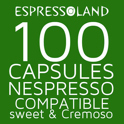 100 coffee pods compatible Nespresso machines - capsules Sweet & Cremoso
