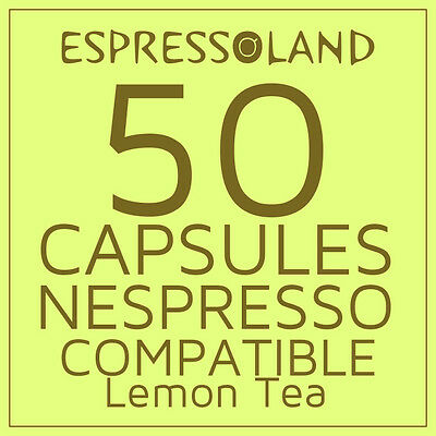 50  coffee capsules compatible with Nespresso machines - ****Lemon Tea Pods ****