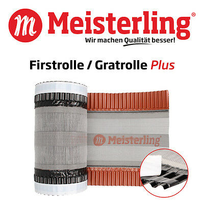Meisterling® Firstrolle / Gratrolle Plus, 310 - 390 mm Dach Firstband / Gratband