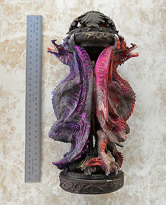 Mystical Two Dragons Incense Burner 30cm (ex display)