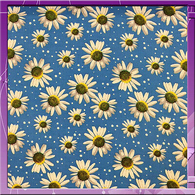 """100% Rayon challis blue background w white margaritas 60""""w Fabric by the yard"""