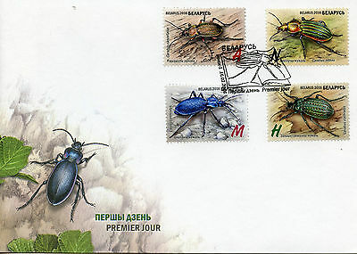 Belarus 2016 FDC Insects Ground Beetles 4v Set Cover Red Book of Belarus