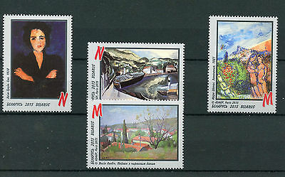 Belarus 2015 MNH Artists of Paris School 4v Set Art