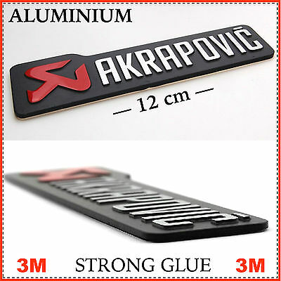 AKRAPOVIC Sticker 3D Aluminum Decal Emblem Badge For Motorcycle & Car Styling