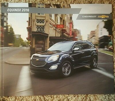 2016 Chevrolet Equinox NEW Sales Catalog Brochure Dealership Chevy