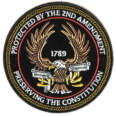 4519, Protected By The 2nd Amendment Preserving The Constitution Embroider Patch