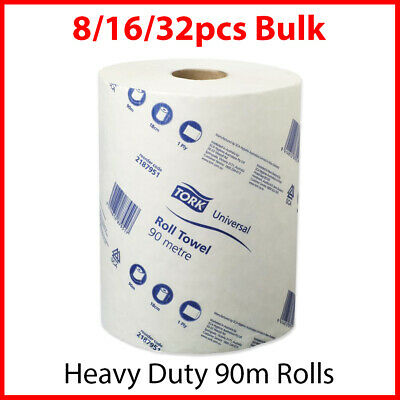 Paper Hand Towels Tork Towel Roll Bulk Industrial Kitchen White Clean 90m 1Ply