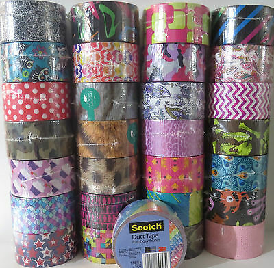 You Pick Scotch Brand Duct Tape Rolls!! New Prints Patterns Characters Duck Tape