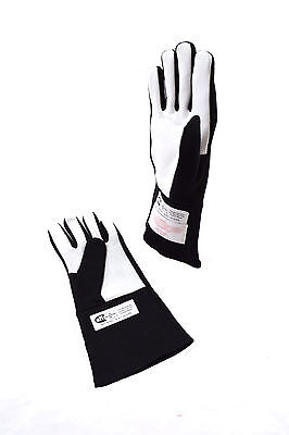 Rjs Racing Equipment Sfi 3.3/1 1 Layer Nomex Racing Gloves Black Xs 20213-Xs