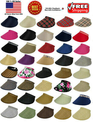 Women Lady Fashion Large Clip On Visor Wide Brim Sun UV Protection Cap Cover Hat
