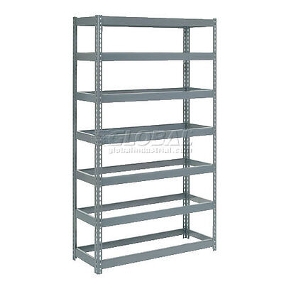 """Extra Heavy Duty Shelving 48""""W x 18""""D x 96""""H With 7 Shelves, No Deck"""