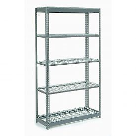 """Heavy Duty Shelving 48""""W x 12""""D x 84""""H With 5 Shelves, Wire Deck"""