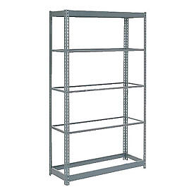 "Heavy Duty Shelving 48""W x 24""D x 72""H With 5 Shelves, No Deck"