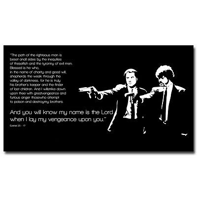 Pulp Fiction Movie Quote Motivational Silk Poster 13x24 20x36inch